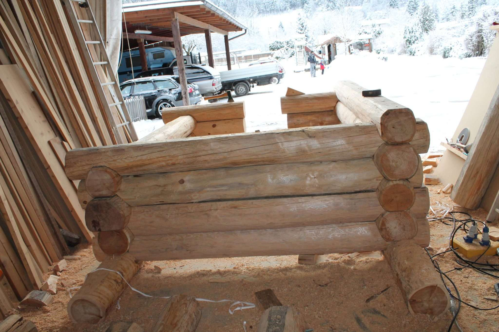 Case In Tronchi Di Legno Trentino : Realizzazione casetta in legno a tronchi case in legno e